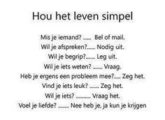 hou het leven Simpel