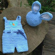 Conjunto confeccionado em fio importado próprio para bebê  Cor azul  Tamanhos RN/ 1 a 3/3 a 6/ 6 a 9 meses