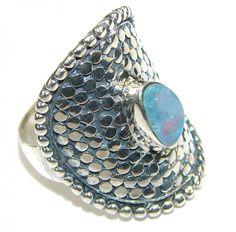 Designer Fire Opal Ring : Sterling Silver Opal Ring Online