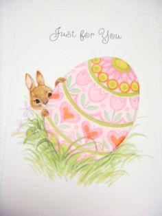 Easter Greeting Card by Hallmark  Easter Egg  by Kleymannscloset, $4.00