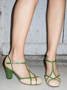 Wait and See ♥ Chie Mihara Mid Heeled Leather T-Bar Shoes£
