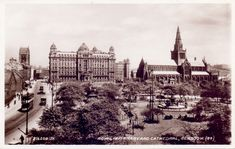 Now vastly changed with new building including the Museum of Religious Life. A 1932 view of the area. Glasgow Scotland, Scotland Travel, Glasgow Cathedral, Old City, Big Ben, Paris Skyline, Ireland, Hospitals, Nurses