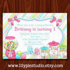 Sweet Shoppe Birthday Printable Invitation