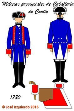 Milicias Disciplinadas de Caballería de Cavite,  1780