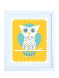 Woodland Owl Illustration by Helen & Robin