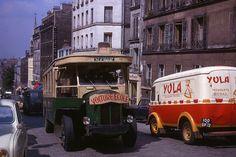 Ligne de Bus 96, rue de Ménilmontant, Paris 20ème, 1964
