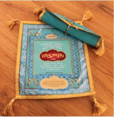 Aladin Invitation (mouse pad) Jasmin Party, Princess Jasmine Party, Princess Disney, Disney Princesses, Aladdin Birthday Party, Aladdin Party, Arabian Party, Arabian Nights Party, Aladdin Wedding
