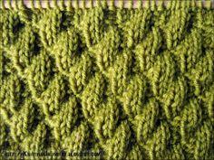 Knit-Purl Combinations: Diagonal Pattern 2 |  | | knittingunlimited.blogspot.com