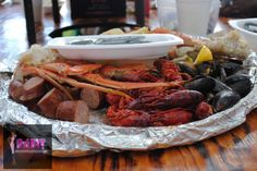 Seafood platter at The Crab Shack in Savannah, GA. #food #seafood