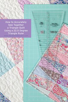 In this brief tutorial you discover the secret to piecing accurate degree triangles for the perfect triangle quilt with perfect points. Tumbling Blocks Quilt, Circle Quilts, Square Quilt, Quilt Blocks, Quilting Tips, Quilting Tutorials, Patchwork Quilting, Triangle Quilt Pattern, Triangle Quilts