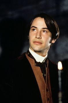 Keanu Reeves as Jonathan Harker in Dracula. The curtain hair, the tan waistcoat, the awful English accent. Gothic sexiness at it's hammiest.  I remember getting my dad to get me a copy of the VHS so I could finally see it (I was too young to see it at the cinema, thus played on parental obliviousness), and it was my most coveted possession at the time. I remember watching it with my older sister and her friend and wishing I hadn't shared as it seemed such an intimate film to a girl of 13 or…