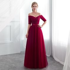 Hot Sale Purple Red Bridesmaid Dresses Satin Tulle A-Line Royal Blue Sleeveless Wedding Party Prom Girl Dresses party dress Red Bridesmaids, Prom Girl Dresses, Elegant Bridesmaid Dresses, Satin Bridesmaid Dresses, Trendy Dresses, Royal Dresses, Formal Outfits, Fashion Dresses, Wedding Dresses