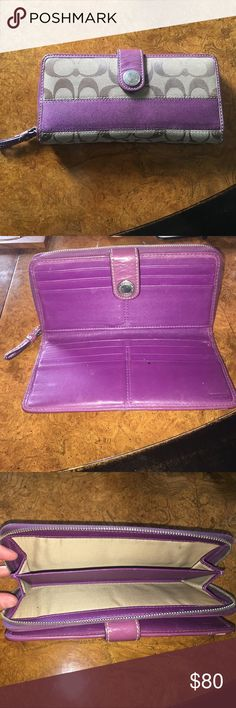 Coach wallet Coach Wallet. Slightly used. Has enough space for all your cards and cash! Coach Bags Wallets