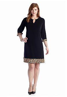 Tiana B Plus Size Shift Dress