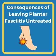 Leaving Plantar Fasciitis Untreated