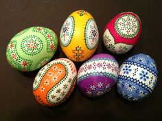 Sorbische Ostereier / Sorbian easter eggs  The most beautiful Easter eggs in the world, painted by my girlfriend
