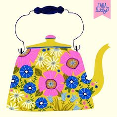 Art and Illustration by Tara Lilly Studio: Painted Teapot 3