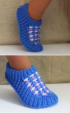 """Stricken """"Crochet Patterns Slippers Slippers with knitting needles"""", """"This post was discovered by Ku"""""""