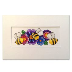 """ORIGINAL Watercolour and Ink """"Bees 2"""""""