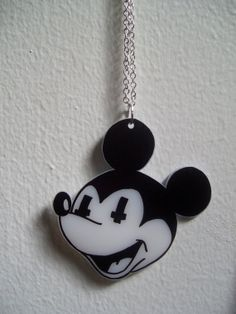 Mickey Mouse Death Cult Necklace by SmashItUpArt on Etsy