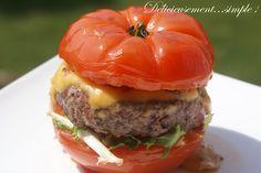 Hamburger à la tomate coeur de boeuf