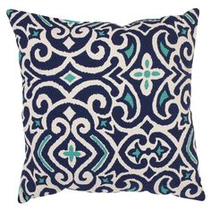 Pillow Perfect Decorative Blue/ White Damask Square Toss Pillow ($15) ❤ liked on Polyvore featuring home, home decor, throw pillows, blue and white home decor, square throw pillows, pillow perfect, damask home decor and blue and white throw pillows
