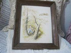 Vintage Framed Print Boy on a Farm and by Daysgonebytreasures