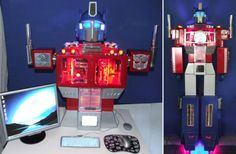 Doy you have an old pc and a cool vintage robot toy? Just put the pc inside the toy :)  You might wanna call a geeky friend of yours for a cool afternoon together. #giftmeapp.org