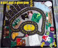 I am so making this --- holy felt mat batman.... - A girl and a glue gun