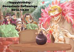 One Piece, Doflamingo, Mihawk, Sir Crocodile, Law