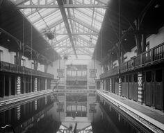 Swimming pool at the Public Baths & Gymnasium at Primrose street, Alloa, Scotland