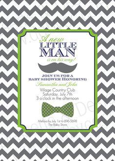 Little Man Baby Shower Invitation 2 by DessertsDesigns on Etsy, $12.00