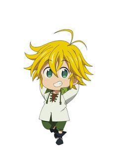 The Seven Deadly Sins Meliodas Dibujos Anime Chibi, Chibi Anime, Art Anime, Otaku Anime, Kawaii Anime, Anime Guys, Manga Anime, Kawaii Chibi, Chibi Eyes