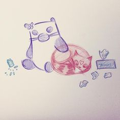 Feeling absolutely cruddy. #morningandcherish You can buy Fairyish art at http://www.redbubble.com/people/feelingfairyish #art #cute #animation #cartoon #illustration #characterdesign #design #visdev #visualdevelopment #sketchbook #artistsoninstagram...