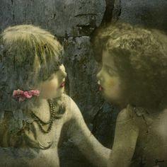 altered art using vintage image