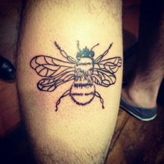 Bumble Bee tattoo- add some flourishes around it and it would be perfect!