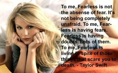 This girl is so right. I love what this says and I love that Taylor said it. I love and respect her so much.
