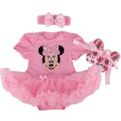 Mickey Mouse Baby Clothes, Minnie Mouse Costume, Minnie Mouse Dresses, Romper With Skirt, Romper Dress, Tulle Dress, Baby Dress, Cute Baby Girl Outfits, Toddler Outfits