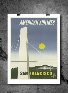 San Francisco American Airlines Plane Travel Poster Print 8x10 Print. San Francisco American Airlines Plane Travel Poster Print 8x10 Print - HIGH QUALITY PRINTS - Focusing on making quality prints for the Home & Office. Introducing Our : Vintage Travel Collection -This 8x10 print is Ready-To-Frame and will fit perfectly in any Frame with Mat when delivered. BEAUTIFUL WALL ART: Our posters provide daily inspiration, beauty, tranquility and are the perfect choice for the office, dorm room...
