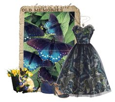 """""""Vintage Memories"""" by shanasark ❤ liked on Polyvore featuring Valentino, Emma Domb, Towne & Reese, Journee Collection, vintage, butterfly and vintagedress"""