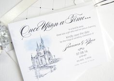 Items similar to Disney World Save the Dates, Save the Date, Fairytale Wedding, Cinderella's Castle, Orlando Wedding Save the Date Cards (set of 25 cards) on Etsy Wedding Party Invites, Wedding Programs, Wedding Cards, Party Invitations, Wedding Favours, Wedding Bells, Wedding Reception, Cinderella Wedding, Cinderella Castle