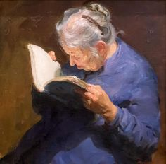 """Reading"" by Boris Ivanovich Kopylov. An old woman reading. Reading Art, Woman Reading, I Love Books, Books To Read, Great Paintings, Arte Pop, Figure Painting, Oeuvre D'art, Old Women"