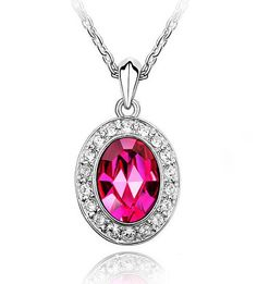 2013 New Design Shining Crystal Pendant Necklace Jewelry for Women Brithday Jewelry Wholesale MG on AliExpress.com. $5.49