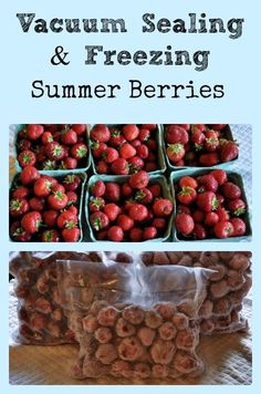 Vacuum Sealing Summer Berries