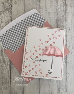 Heart Happiness and Weather Together cards - Kim McGillis Umbrella Cards, Umbrella Man, Weather Cards, Wedding Shower Cards, Hand Made Greeting Cards, Wedding Anniversary Cards, Scrapbook Cards, Scrapbooking, Get Well Cards