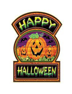 Decoración de cartón calabazas Happy Halloween: Esta decoración de Halloween…