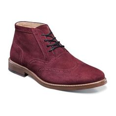 Mens Arley Wingtip Chukka Boot by Stacy Adams - Suede Uppers and leather lining. Very nice looking boot.
