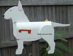 Unique Bull Terrier Mailbox that can be custom painted like your Bull Terrier! Bull Terrier Funny, Miniature Bull Terrier, Bully Dog, English Bull Terriers, Dog Lady, Scottie, Mailbox, Mans Best Friend, Best Dogs