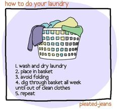 Pinterest is so helpful for housekeeping instructions.