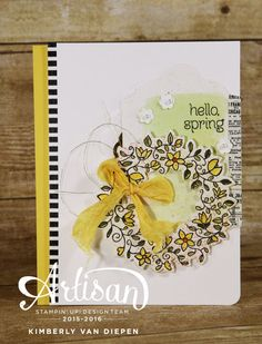 Create beautiful Spring cards using the Circle of Spring stamp set from Stampin' Up!- StampinByTheSea.com